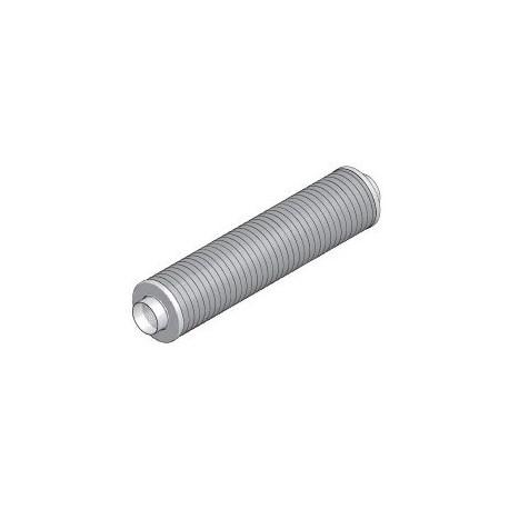 Silencieux circulaire DN125 x1m sans fibre minérale