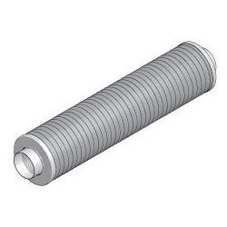 Silencieux circulaire DN160 x1m sans fibre minérale