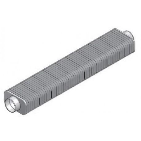 Silencieux rectangulaire DN160 x1m sans fibre minérale