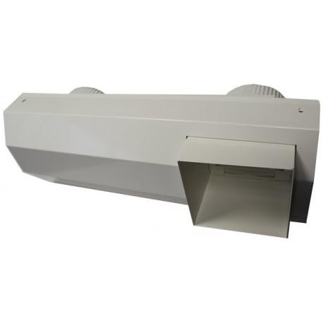 Terminal prise et rejet d'air integrés 125 (métal) blanc pour R. SKY