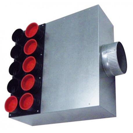 Caisson de distribution d'air insonorisé AE34C Ø 180-15 x  Ø 75