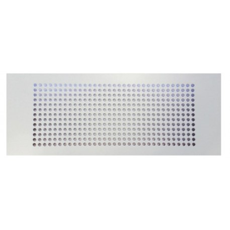 Grille rectangulaire Blanche RAL9010 300x100