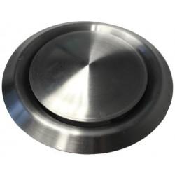 Bouche d'extraction et d'insufflation ronde ø125 inox brossé