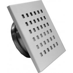 Bouche d'insufflation et d'extraction carré ø125 blanche