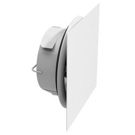 Façade de bouche carrée extraplate blanc RAL 9010