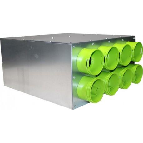 Caisson de distribution d'air insonorisé AE48C ø160 à 90°- 8xø90