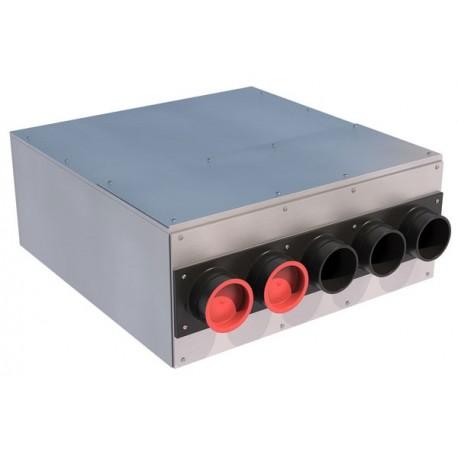Caisson de distribution d'air insonorisé AE34C Ø 125-5 x  Ø 75