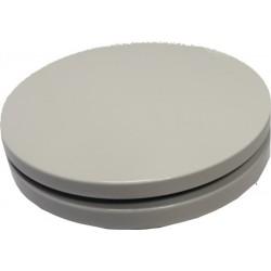 Bouche d'insufflation ronde plate ø125 blanche+COL125