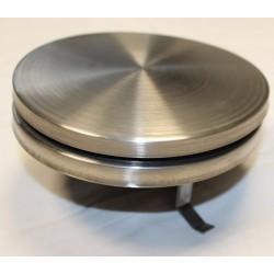 Bouche d'insufflation ronde plate ø125 inox brossé+COL125